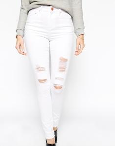 minimal- wht jeans